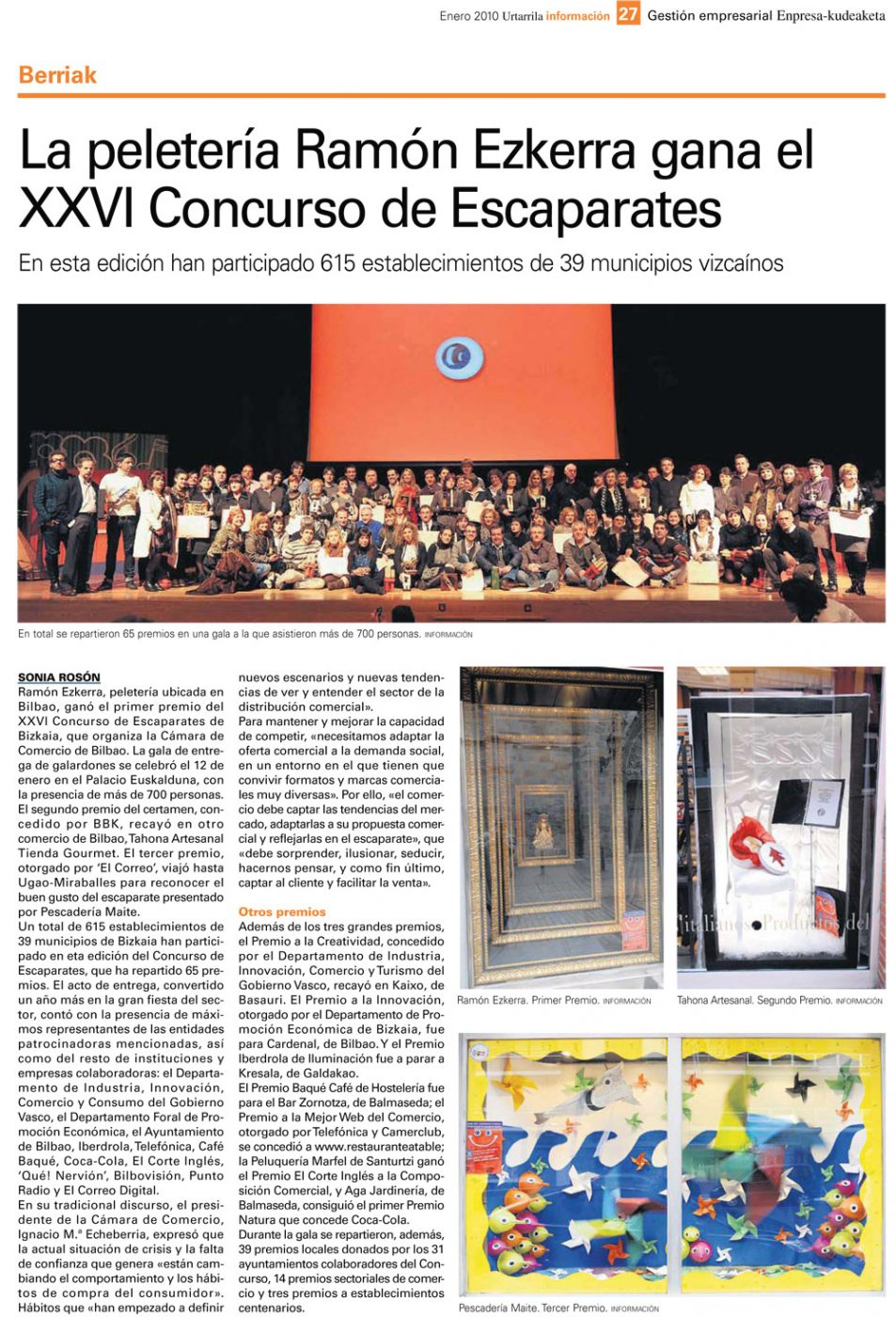 Premio escaparates 2009