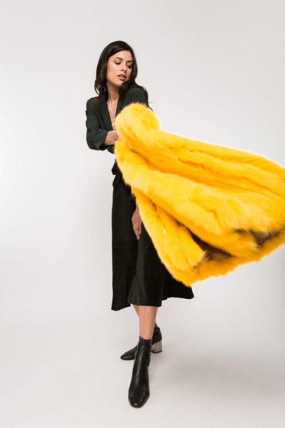 El chaleco que llevó Paulina Rubio
