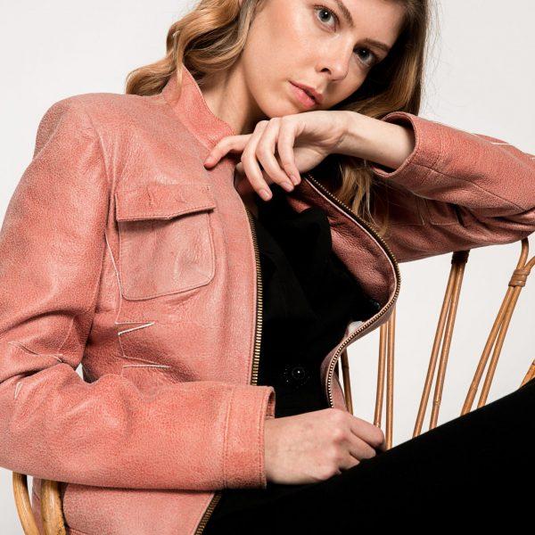 Chaqueta de mujer, color rosa palo