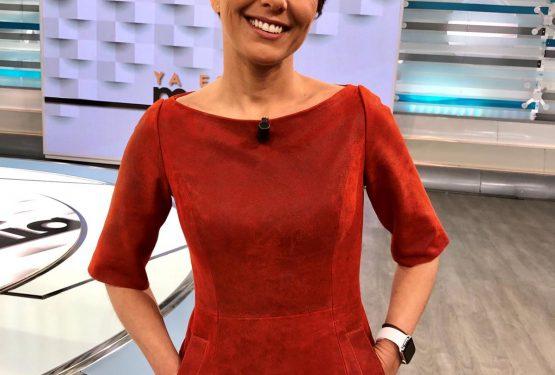 Vestido de cuero Sonsoles Onega - Telecinco - Ya es Mediodía